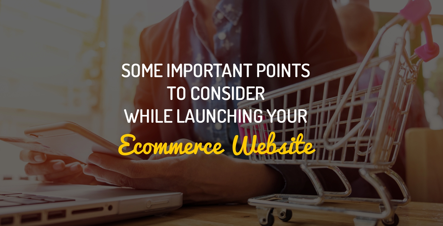 Some Important Points To Consider While Launching Your Ecommerce Website